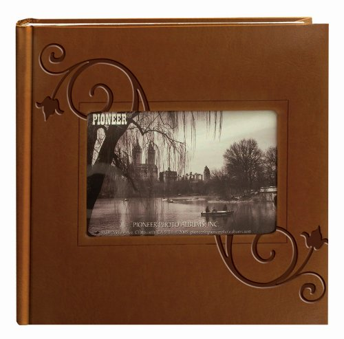 Pioneer Embossed Floral Frame Leatherette Cover Photo Album, Brown (4