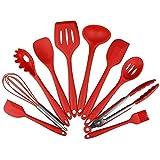 ادوات مطبخ للطبخ، مجموعة من 10 ادوات سيليكون، مقاومة للحرارة وغير لاصقة اثناء الخبز