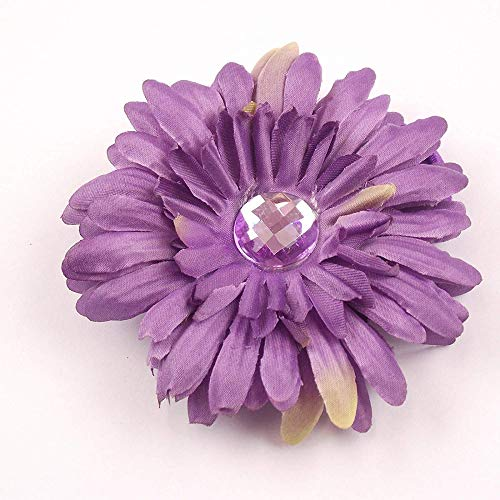 MARJON Flowers3 in 1 - Artificial Gerbera Flower with Diamante with Clip, Pin and Hair Bobble -