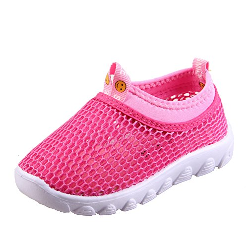 Girls Aqua Sandals (CIOR Kids Aqua Shoes Breathable Slip-on Sneakers for Running Pool Beach Toddler/Little Kid/Big Kid,1106pink,25 …)