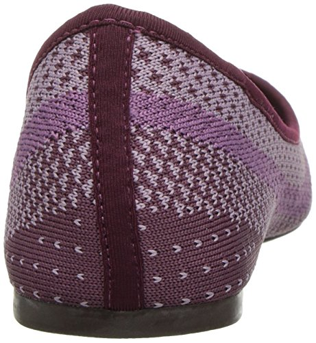 Skechers Womens Cleo Hot Dot Ballet Flat Purple