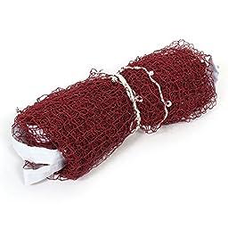 uxcell Nylon Badminton Sport Training Mesh Net 6M Length Dark Red White