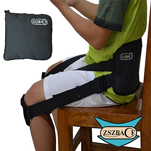 Yoga Straps-Correct Back Posture While Sitting, Featured on Shark Tank, Doctor Recommended (Back Support Belt) by ZSZBACE