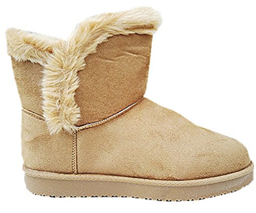 Girl Shoe Fur Flat Snow jr911 nbsp;Camel Boot Heel Bottine Woman Boots 4gywqSHU