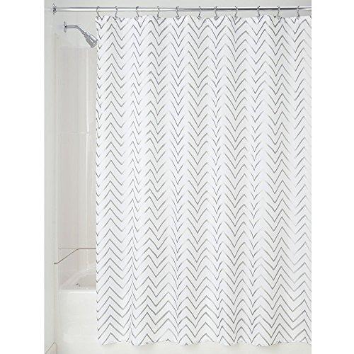"YOUHOME Chevron Soft Fabric Long Shower Curtain, 72"" x 84..."