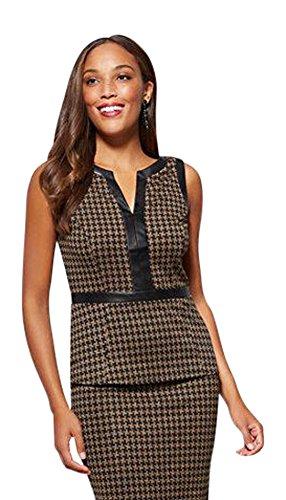 New York & CO. 7Th Avenue - Faux-Leather Trim XXLarge Black (Shirt Dress Trim)