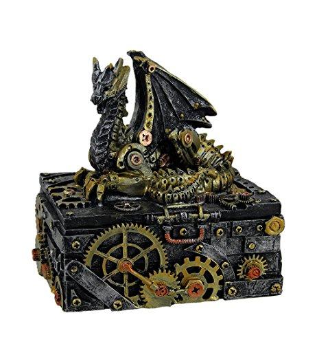 Secret Steam Dragon Decorative Steampunk Trinket Box 6 ()