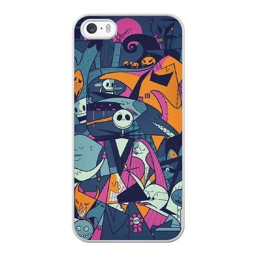 Generic Cell Phone Case for Cover Iphone 5 5S SE White Nightmare Before Christmas Jack And Sally X2M5LJ