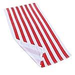 Exclusivo Mezcla Cabana Striped Towel - red