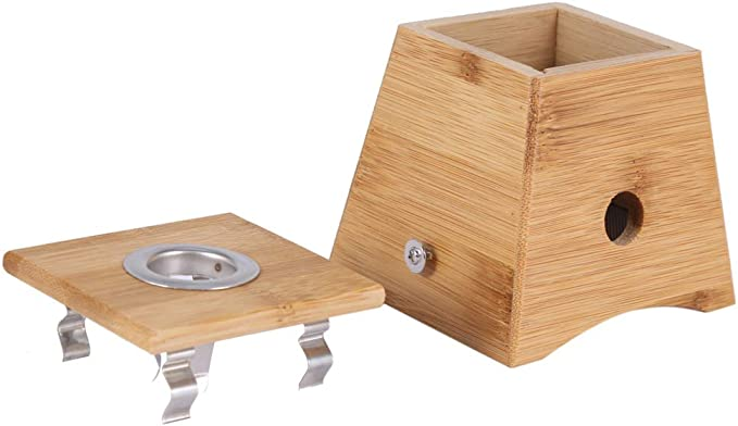 Caja de moxibustión - Caja de bambú de palo de rollo de moxa de moda, caja de soporte de moxibustión de terapia de curación de atención médica (Style : 1 Hole): Amazon.es: