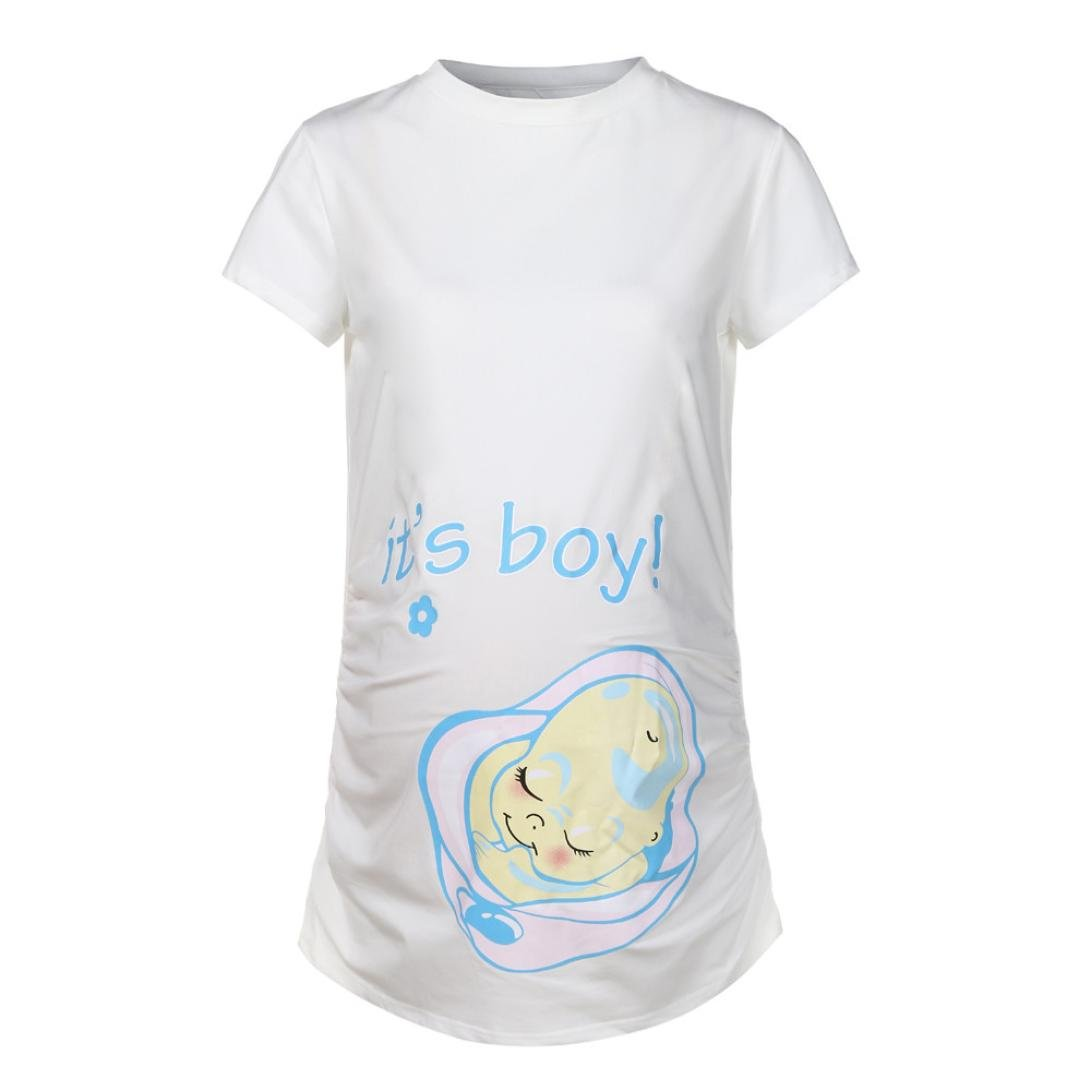 Amazon.com: ES Boy pregnants T Shirt Bebé Bump Tee de ...