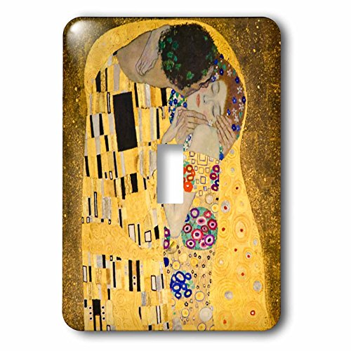 3dRose lsp_155634_1 The Kiss C 1907 By Gustav Klimt Romantic Lovers Embrace Romance Gold Famous Classical Fine Art Single Toggle Switch