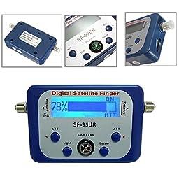 Satellite Finder,ELEGIANT Good For Campers Digital Satellite Signal Meter Finder Directv Dish with Compass,Buzzer LCD FTA Dish