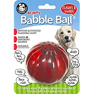 Pet Qwerks Blinky Babble Ball Interactive Dog Toys – Flashing Motion Activated Electronic Talking Ball, Treat Toy That Lights Up & Makes Noise – Avoids Boredom & Keeps Dogs Active | for Large Dogs