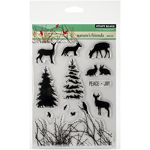 Penny Black Decorative Rubber Stamps, Nature's Friends by Penny Black