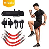 ITRAZ 200 lbs Boxing Resistance Bands Boxing Crossfit Training Belt Leg Strength Bounce and Agility Training Strap for Football Basketball Volleyball Taekwondo Muay Thai Fitness