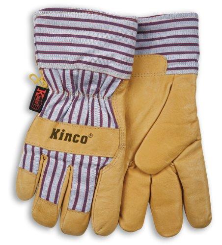 Kinco 1927 Thermal Heatkeep Lined Grain Pigskin Leather Glove, Work, 2X-Large, Palomino (Pack of 6 Pairs)