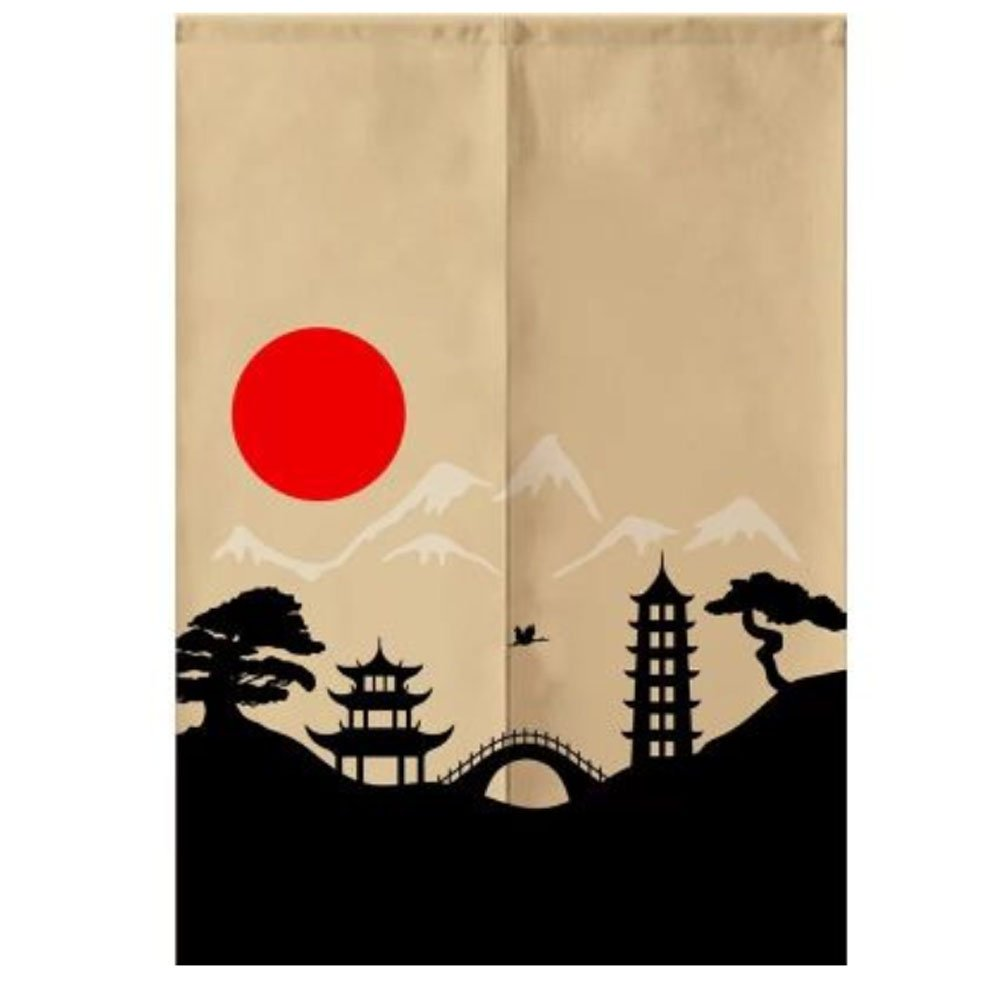 Sushi Bar Decoration Japanese Style Curtains Door Hallway Hanging Curtains 31.49x47.24 Inch (A11) by LUNA VOW
