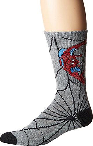 Vans Men/Kid's X Marvel Spiderman Crew Socks (6.5-9 Men's Shoe Size) -