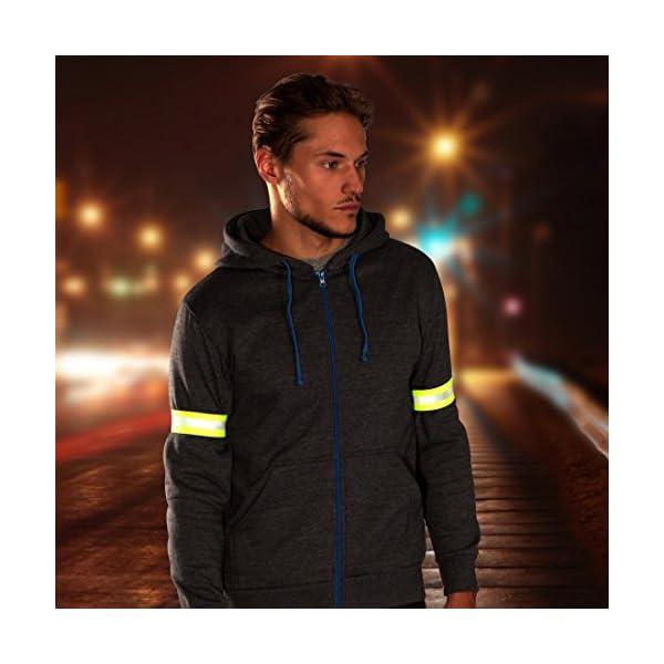 Ultrasport Banda reflectante; banda de reflejo de luz con velcro para mayor seguridad en cualquier actividad outdoor, amarillo neón 5