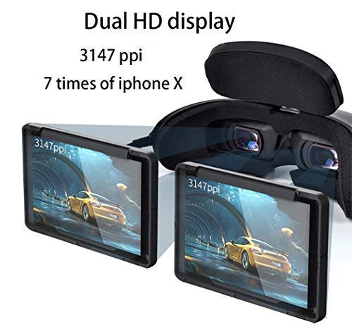 GOOVIS 4K Personal Travel Theater VR Glasses FPV for DJI Drones with Sony M-OLED 1920x1080x2 HD Giant Screen (Black)