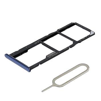 MMOBIEL Bandeja de Doble Tarjeta SIM/SD Compatible con Huawei Y7 Prime (5.99 Inch) 2018 Incl sim Pin y paño (Azul)