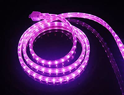 CBConcept® 6.6 Feet 120 Volt LED SMD3528 Flexible Flat LED Strip Rope Light - [Christmas Lighting, Indoor / Outdoor rope lighting, Ceiling Light, kitchen Lighting] [Dimmable] [Ready to use] [3/8 Inch Width x 1/4 Inch Thickness]