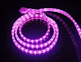 CBconcept UL Listed, 30 Feet, 3200 Lumen, Pink, Dimmable, 110-120V AC Flexible Flat LED Strip Rope Light, 540 Units 3528 SMD LEDs, Indoor/Outdoor Use, Accessories Included, [Ready to use]