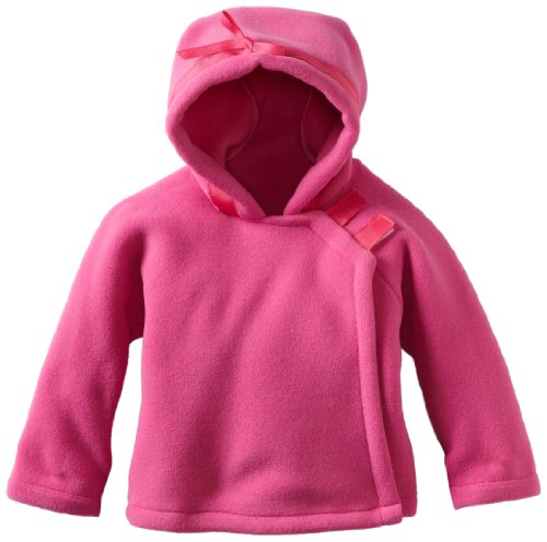Widgeon Unisex Baby Fleece Wrap Jacket, Bright Pink, 18 (Widgeon Saras Prints)