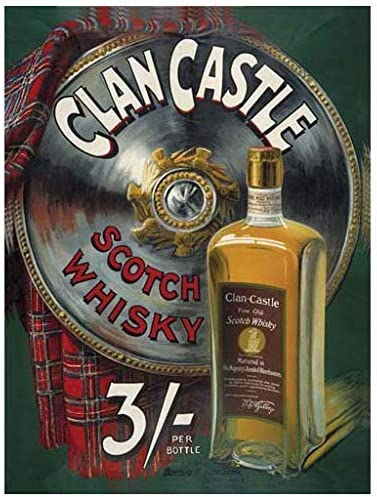Scotch Whisky Vintage Style Advertising Sign Wall Plaque Vintage Sign