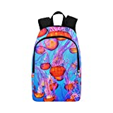 YUMOING Jellyfish Colorful Sea Ocean Water Underwater Casual Daypack Travel Bag College School Backpack For Mens And Women