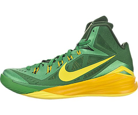 nike hyperdunk 2014 mens hi top basketball trainers 653640 sneakers shoes (uk 10 us 11 eu 45, lucky green sonic yellow gorge green 373)