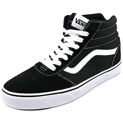 Vans ward hi men black skate shoe fashion for Vans amazon