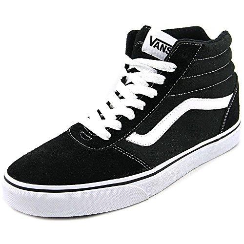 Vans Ward Hi Men Scarpa Da Skate Nero Nero / Bianco