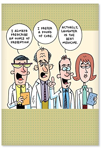 1358 Idiot Doctors Hilariousous Get Well Paper Card with Envelope