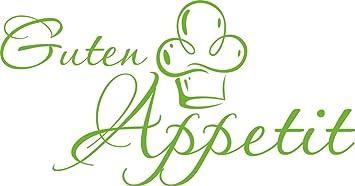 GRAZDesign 620591_30_063 Wandtattoo Küche Guten Appetit mit Mütze |  Küchen-Aufkleber und Tattoo für Deine Wände - Schränke - Fliesen - Möbel |  ...