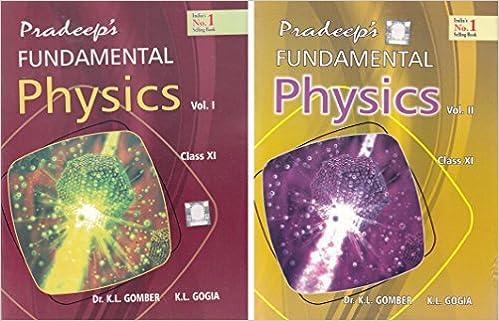 Pradeep's Fundamental Physics for Class 11 - 2018-2019
