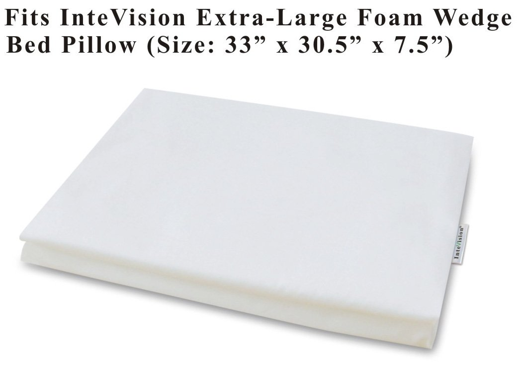 InteVision 400 Thread Count, 100% Egyptian Cotton Pillowcase. Designed to Fit the InteVision Extra-Large Foam Wedge Bed Pillow (33'' x 30.5'' x 7.5'')