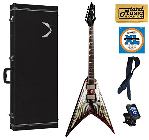 (Dean Dave Mustaine V Angel of Deth Electric Guitar FREE Strings Tuner Strap ,VMNT AOD PACK)