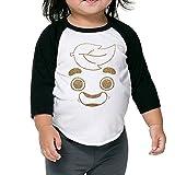 Liloian Guava Juice Gold Foil 3/4 Sleeves Raglan Toddler Children Kids T Shirts