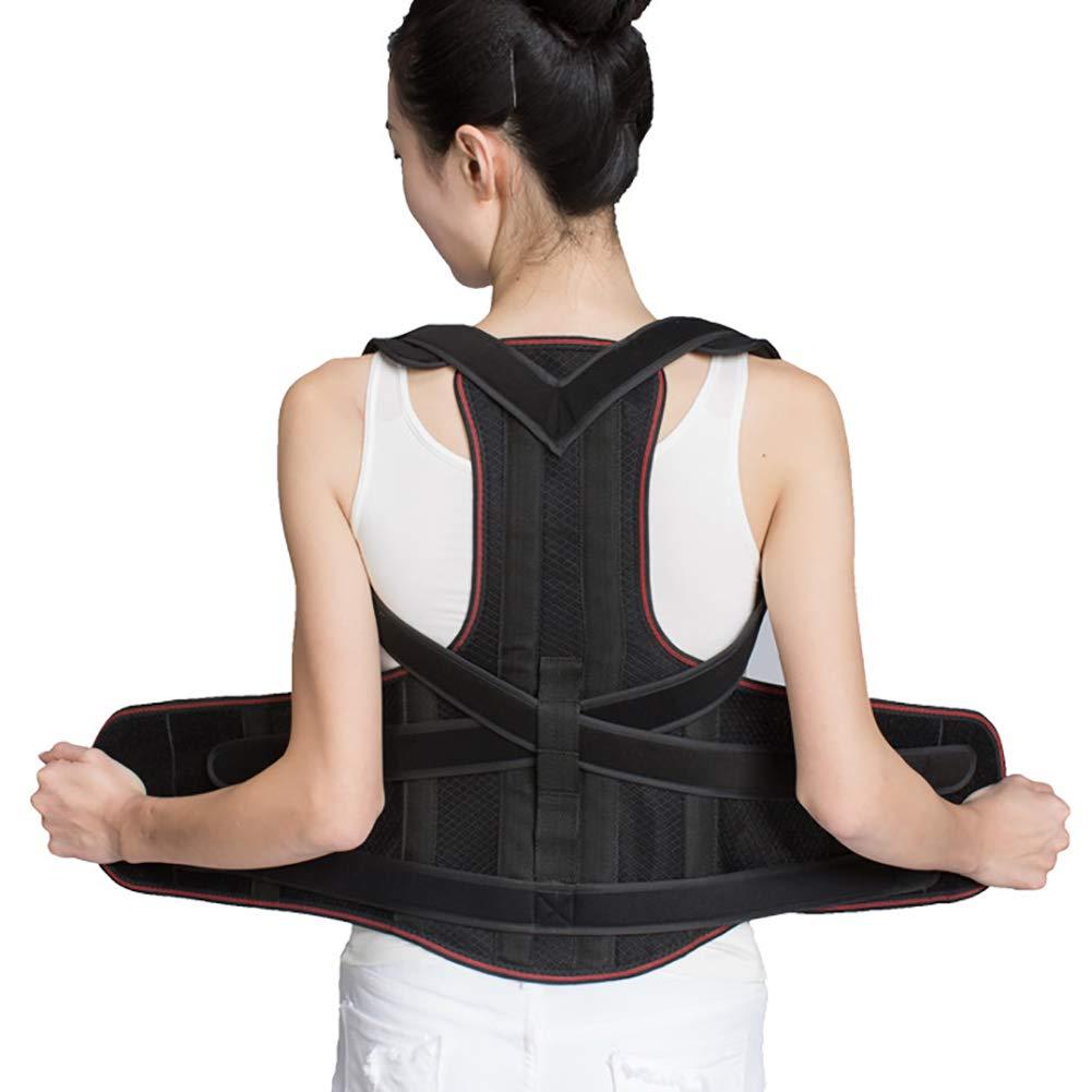 背筋補正ベルト男性と女性のための完全に調整可能なサポートは姿勢を改善し B07QM8LTXK、背中の脊柱側弯症を軽減します XL B07QM8LTXK XL, アムリエ:203c30a1 --- kutter.pl