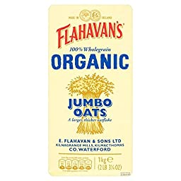 Flahavan\'s Irish Organic Jumbo Oats (1Kg) - Pack of 2