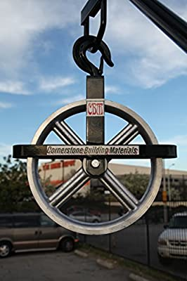 "CBM Scaffold 12"" Aluminum Hoist Pulley Wheel for Scaffolding Lifting or Lowering CBM1290"