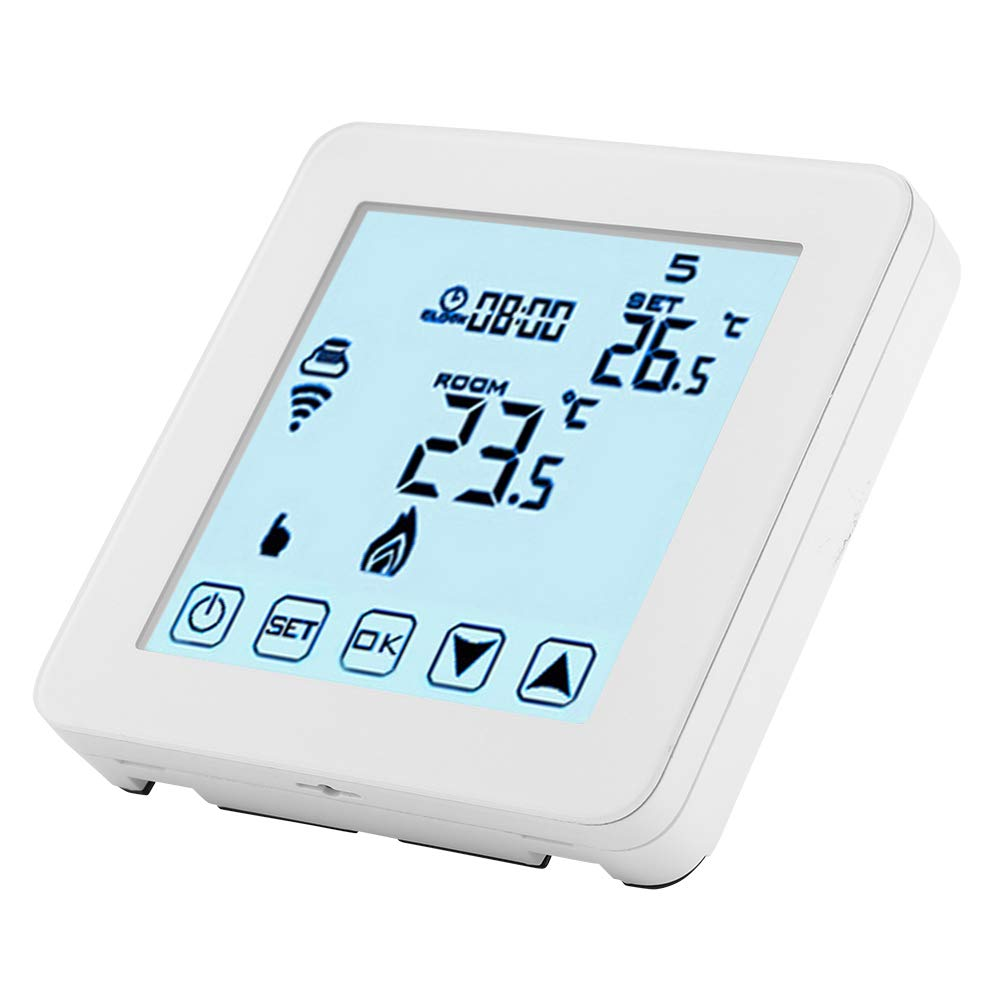 Termostato Digital Pantalla LCD termorregulador Blanco FTVOGUE Termostato Calefacci/ón programable Smart WiFi