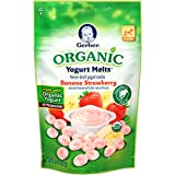 Gerber Graduates Yogurt Melts - Organic Banana Strawberry - 1 oz