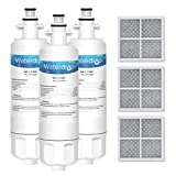 Waterdrop LT700P Replacement Refrigerator Water Filter and LT120F Air Filter, Compatible with LG LT700P, ADQ36006101, ADQ36006102 and LT120F, Standard Series, 3 combo