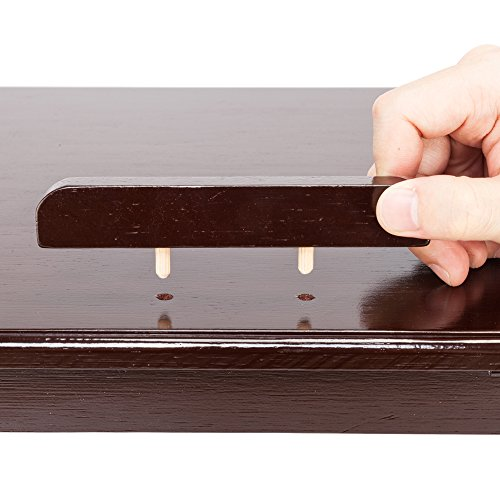Tenozek Retro Plain Design Adjustable Bamboo Lap Desk Tray Dark Coffee by Tenozek (Image #5)