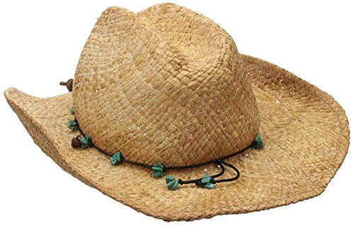 Scala Women's Straw Cowboy Hat, Tea, One Size ()