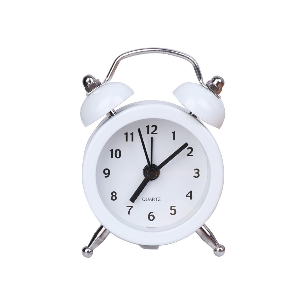 Blue Yunso Retro Classic Alarm Clock Battery Powered Alarm Clock Bedside non Ticking Choice of 6 Colours Best Gifts for Kids Teenagers