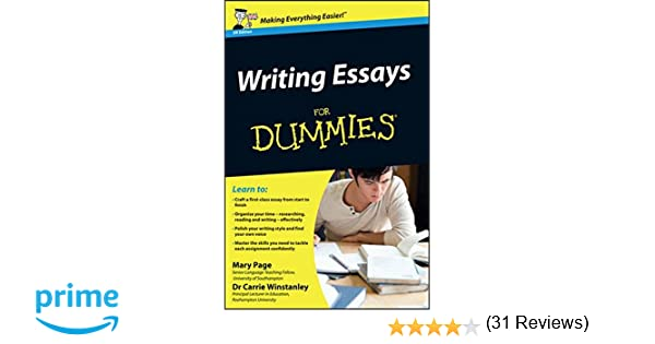 amazon com writing essays for dummies mary page  amazon com writing essays for dummies 8601420182073 mary page carrie winstanley books